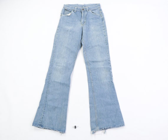 70s Lee Distressed Flared Bell Bottom High Rise Je