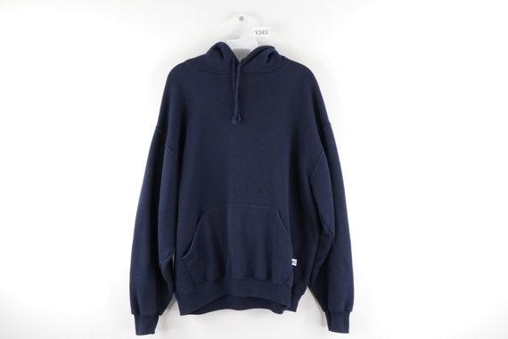 90s Russell Athletic Streetwear Blank Hooded Sweat