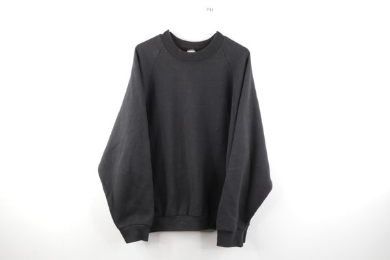 90s Streetwear Distressed Faded Blank Crewneck Swe