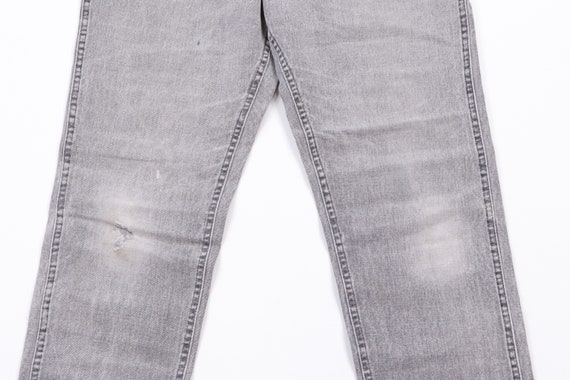 70s Lee Streetwear Distressed Denim Jeans Black T… - image 3