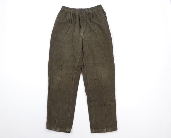 90s Streetwear Distressed Corduroy Tapered Leg Pan