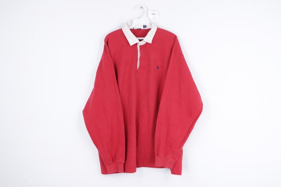 90s Ralph Lauren Long Sleeve Rugby Polo Shirt Soli