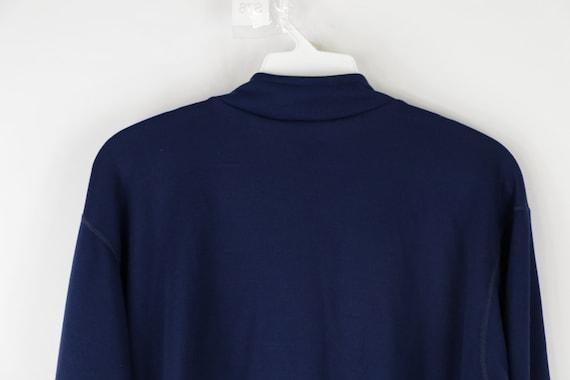 90s LL Bean Long Sleeve Half Zip Thermal Sweater … - image 7