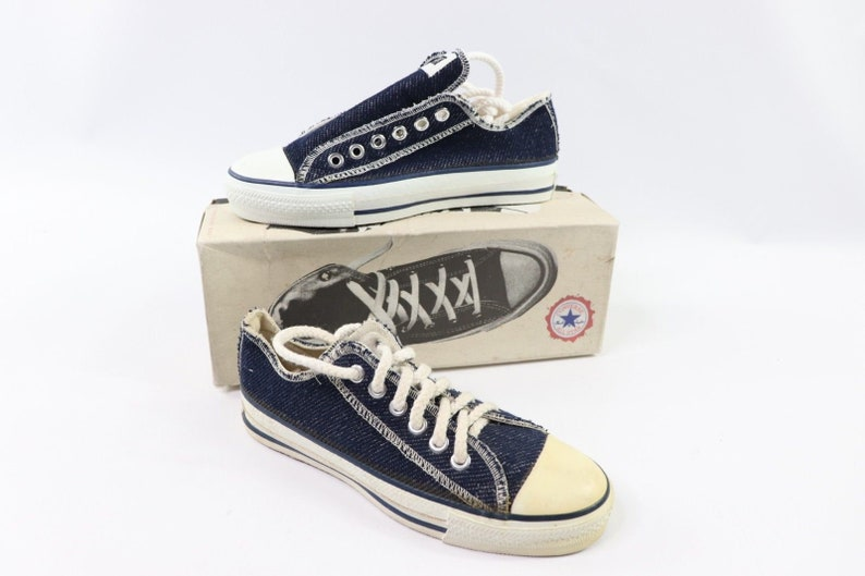 4a691ce8112a5 90s New Converse Chuck Taylor All Star Low Inside Out Denim
