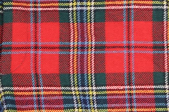 80s Streetwear Scottish Tartan Wool Plaid Golfing… - image 4