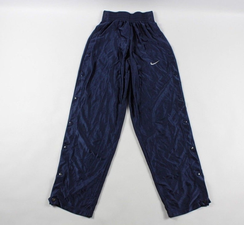 c72328455da4 90s Nike Snap Button Tearaway Athletic Warm Up Running Pants