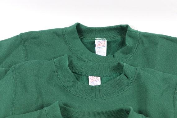 90 s nouveau Lot de 5 Soffe Soffe 5 lourds pulls ras du cou blanc pulls d'entraînement chandails hommes petit vert, Soffe Vintage pull ras du cou, pulls d'entraînement blancs 14218e