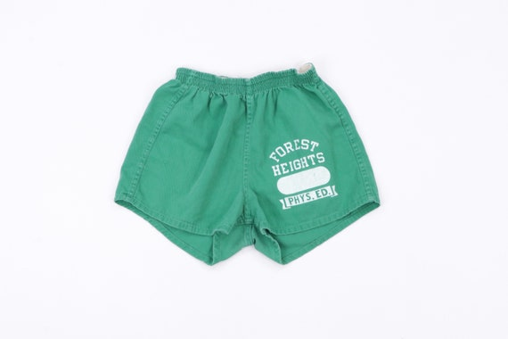 60s Champion Products Distressed Cotton Gym Shorts