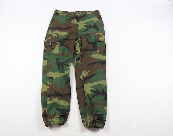 80s RedHead Camouflage Cuffed Outdoor Fatigue Hunt