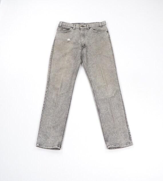 80s Levis Streetwear Distressed Faded Acid Wash D… - image 1