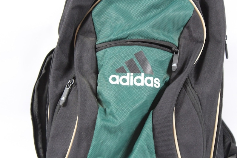 fbb5836f519a 90s Adidas Big Logo Spell Out Soccer Ball Holder Backpack Book