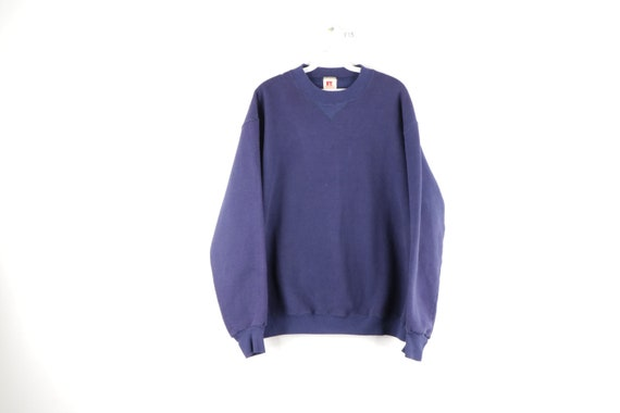 70s Russell Athletic Long Sleeve Blank Crewneck Sw