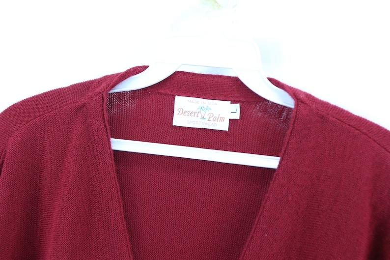 Blank Cardigan Sweater Blue Vintage Cardigan Sweater 80s Button Long Sleeve Cardigan Sweater Red Acrylic USA Mens Large
