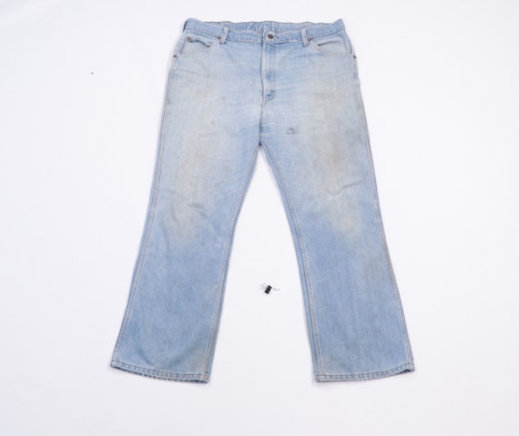 80s Sears Roebucks Distressed Stained Bootcut Deni