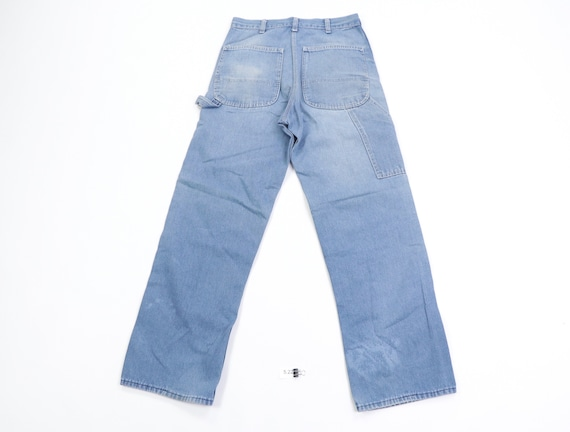 70s Sears Distressed Faded Carpenter Denim Jeans … - image 8