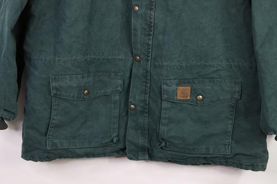 90s New Carhartt Mens Lined Corduroy Collar Chore… - image 3