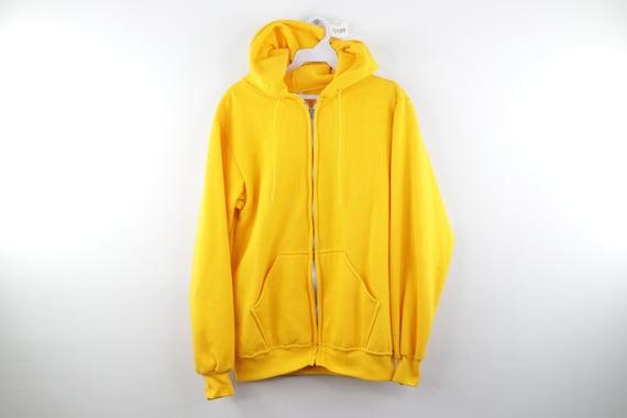 70s Streetwear Blank Full Zip Hoodie Sweatshirt Ye
