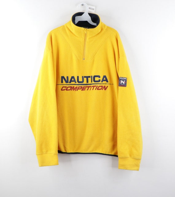 90s Nautica Competition Stitched Spell Out Patch F