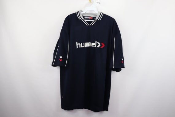 90s Hummel Spell Out Stitched Football Soccer Jers