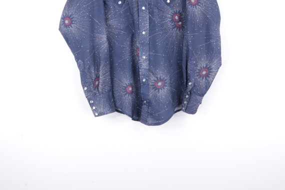 70s Rockabilly Starburst Western Pearl Snap Butto… - image 3