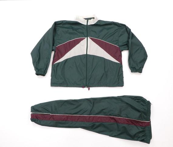 90s Streetwear Color Block Nylon Track Suit Jogger