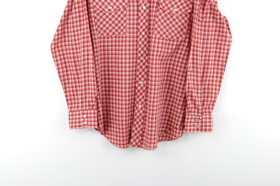 70s JCPenney Rockabilly Western Pearl Snap Button… - image 3