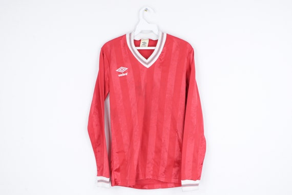 NOS 80s Umbro Spell Out Long Sleeve Soccer Jersey