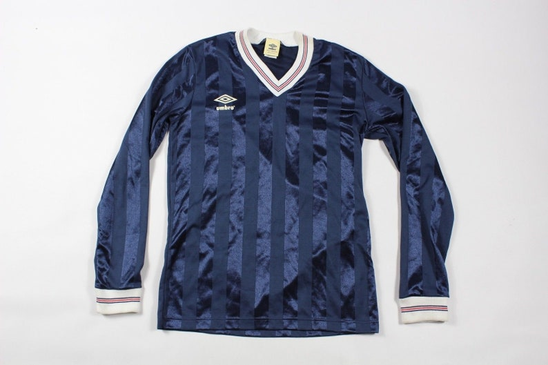 half off 8ba1a 2b0d1 90s Umbro England National Team World Cup Long Sleeve Soccer Jersey Mens  Medium Blue Striped, Vintage England Soccer Jersey, Umbro Jersey