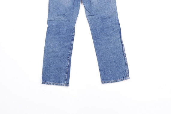 70s Rustler Distressed Straight Leg Denim Jeans B… - image 8