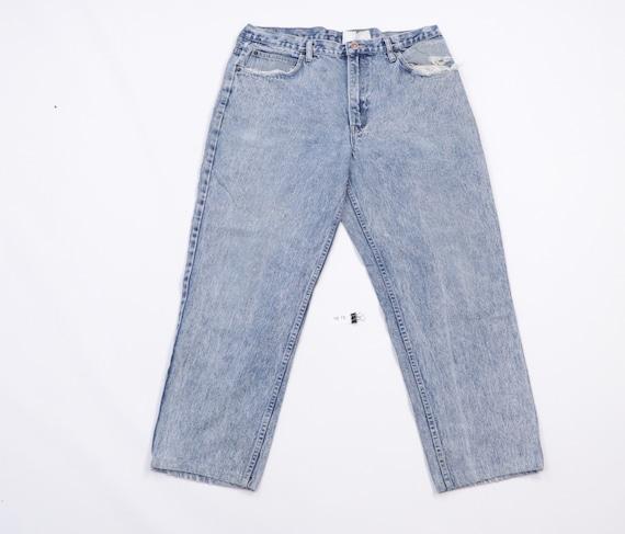 90s Streetwear Distressed Straight Leg Acid Wash D