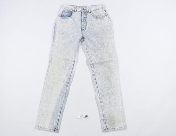 90s Streetwear Distressed Tapered Leg Acid Wash Je