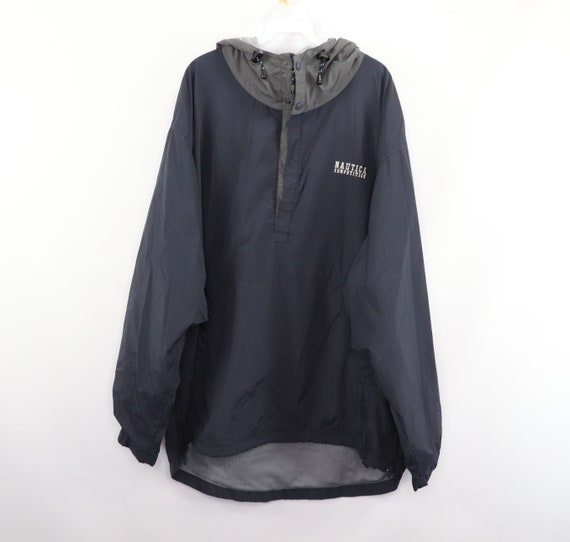 90s Nautica Competition Spell Out Hooded Anorak Ja
