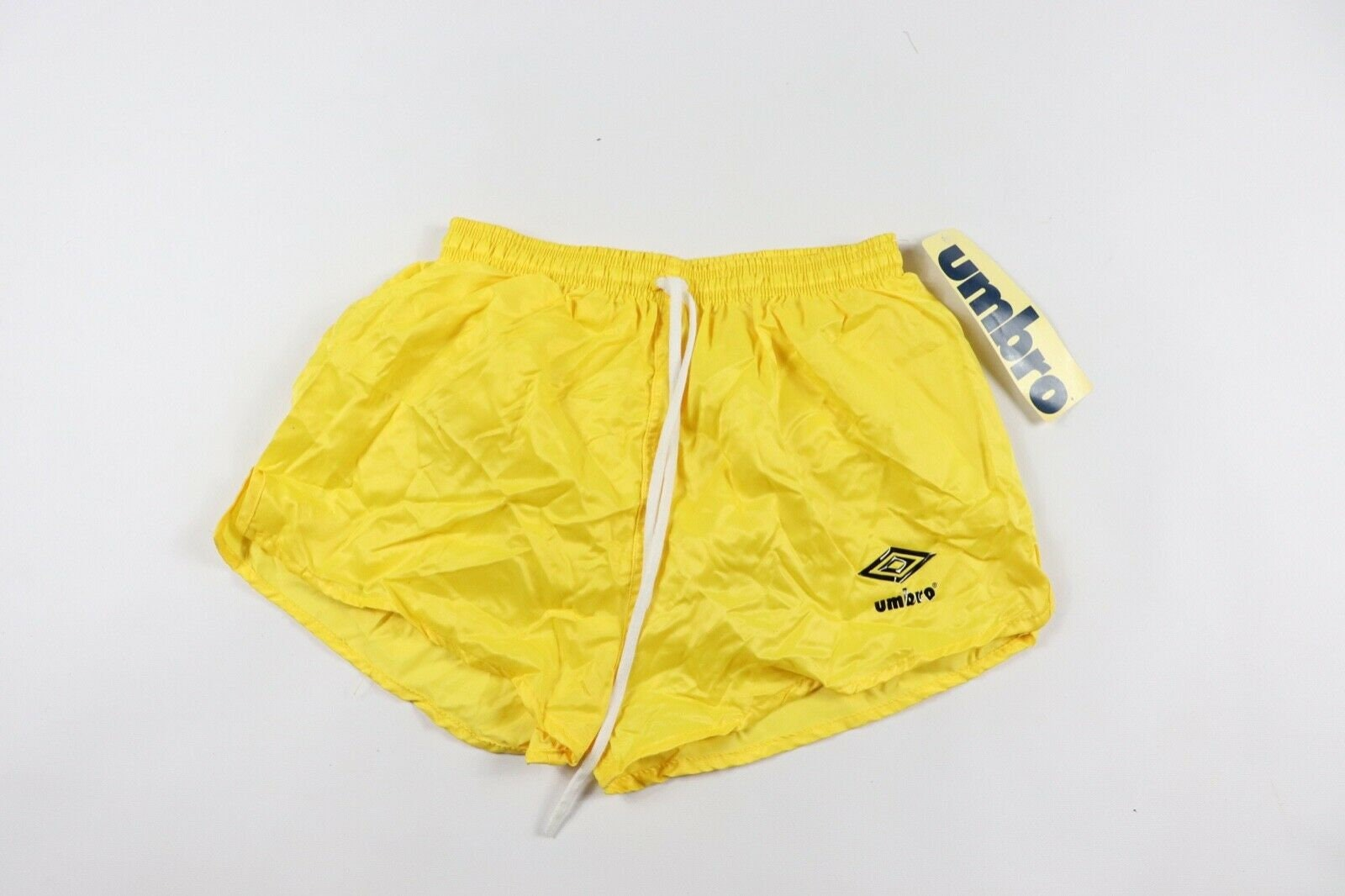 87257b56ee5 80s New Umbro Spell Out World Cup Lined Nylon Soccer Shorts
