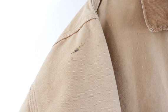 90s Carhartt Spell Out Distressed Faded Corduroy … - image 5