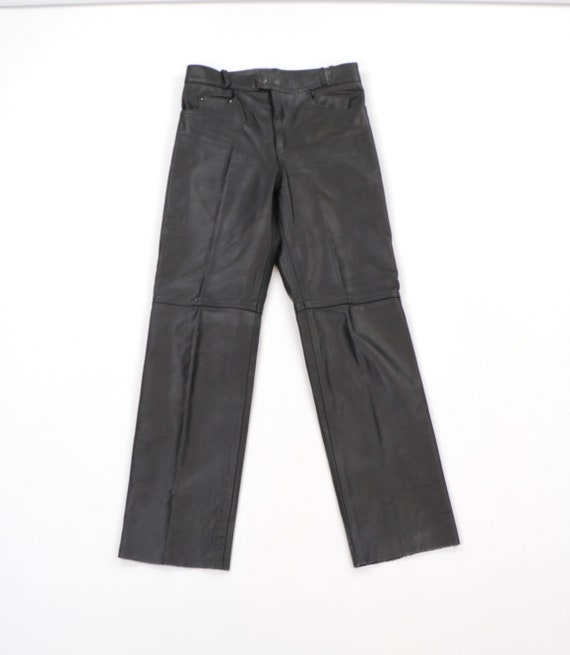 90s Distressed Leather Moto Motorcycle Riding Pant