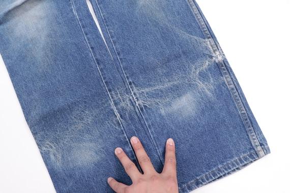 70s Rustler Distressed Straight Leg Denim Jeans B… - image 9