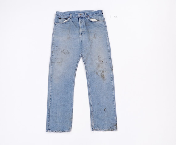 70s Lee MR Distressed Faded Straight Leg Jeans USA