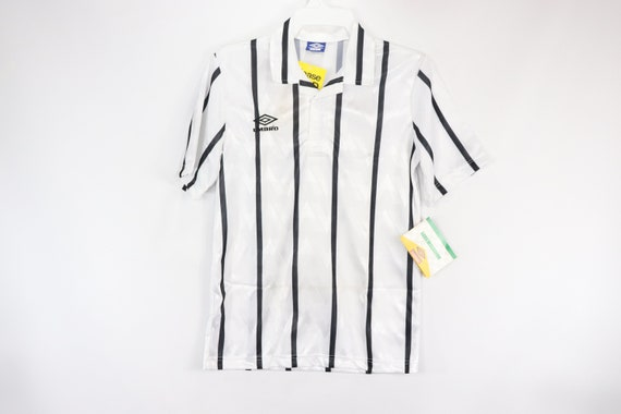 90s New Umbro Mens Short Sleeve Striped Soccer Jer