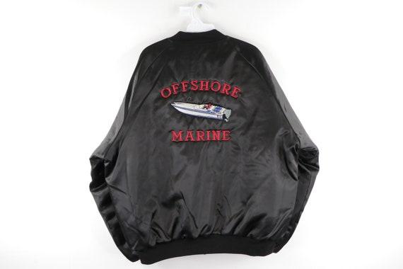 80s Streetwear Speedboat Stitched Shiny Satin Bomb