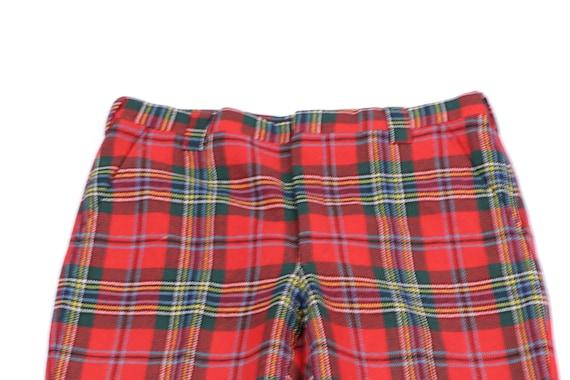 80s Streetwear Scottish Tartan Wool Plaid Golfing… - image 2