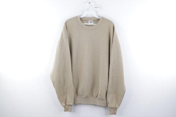 90s Streetwear Blank Distressed Faded Crewneck Swe