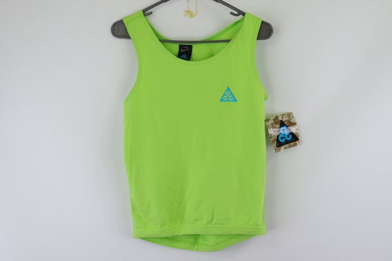 NOS 80s Nike ACG Fitted Spandex Spell Out Tank Top