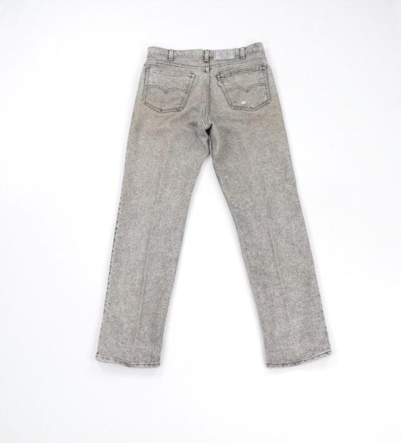 80s Levis Streetwear Distressed Faded Acid Wash D… - image 6