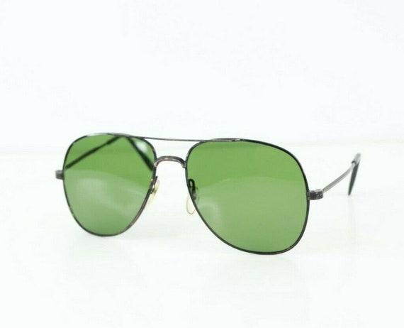 80s Green Tinted Magnum PI Aviator Sunglasses Glas