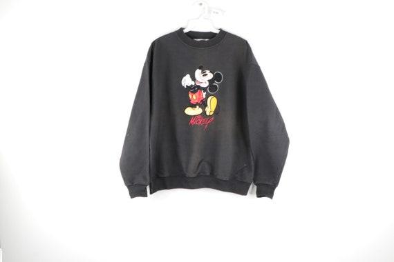 90s Disney Mickey Mouse Satin Distressed Crewneck