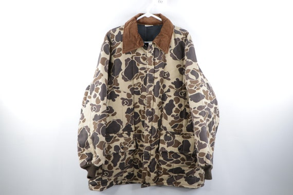 90s Walls Corduroy Collar Camouflage Insulated Par