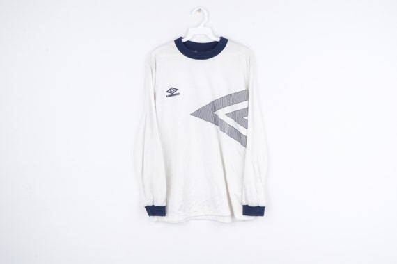 NOS 90s Umbro Spell Out Diamond Long Sleeve Soccer