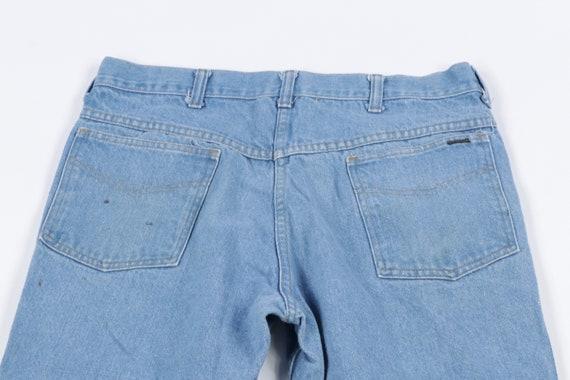 70s Distressed Faded Flared Leg Bell Bottom Denim… - image 8