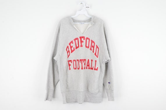 80s Champion Reverse Weave Bedford Football Distre