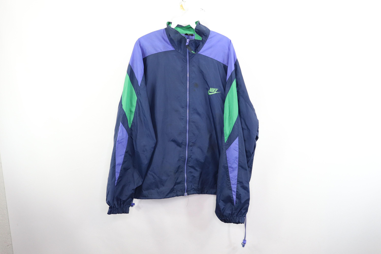 6cb1a1695669b 90s Nike Spell Out Color Block Full Zip Windbreaker Jacket Nylon Mens  Large, Vintage Nike Windbreaker Jacket, 1990s Nike Jacket, Mens Jacket